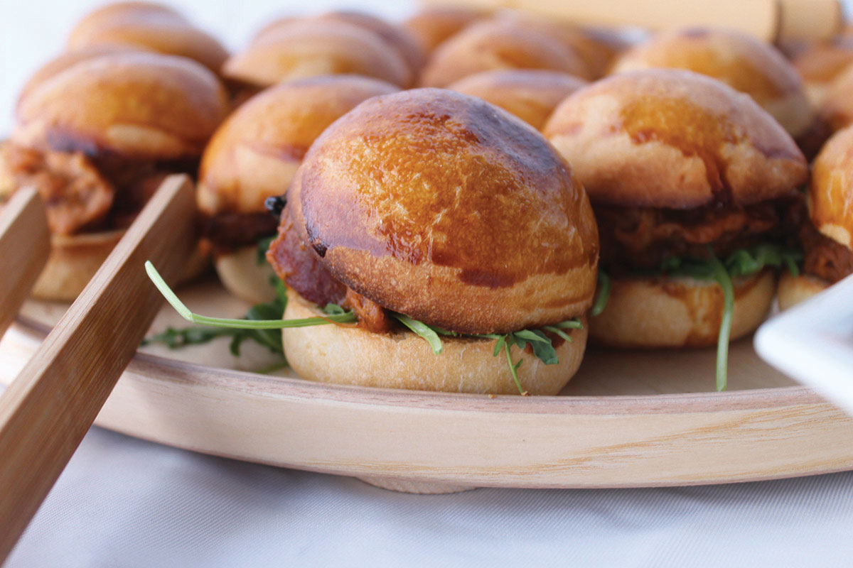 Busy Bees Catering wedding food brioche sliders
