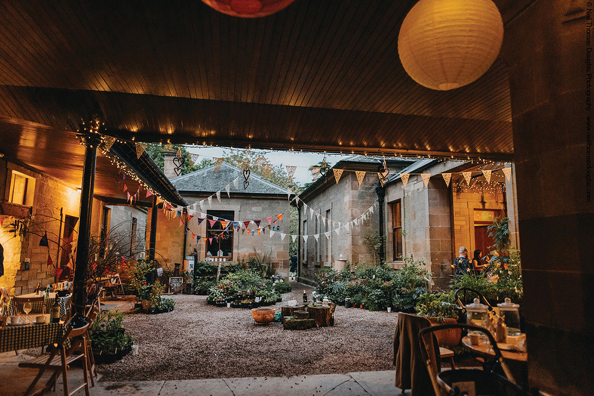 Cambo House and Estate wedding courtyard