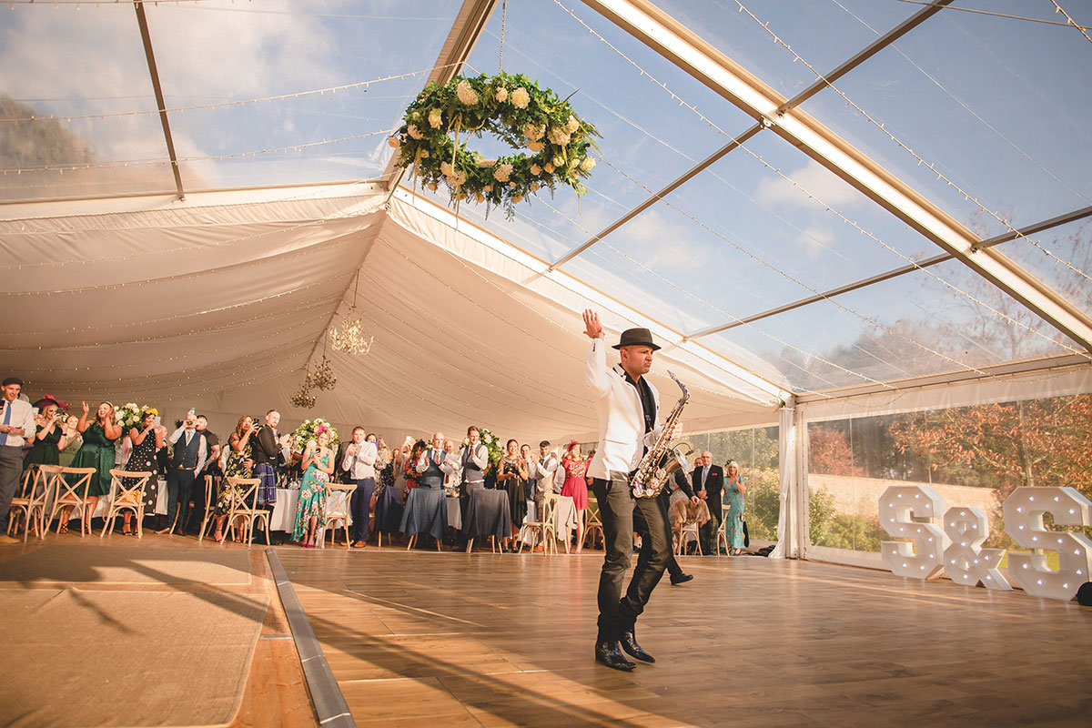 Dalswinton Estate wedding marquee