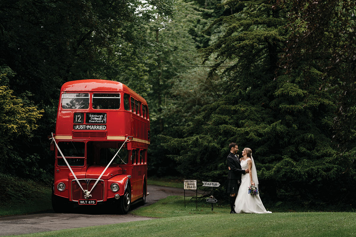 The Red Bus Routemaster wedding bus