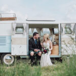View From the Slow Lane wedding Volkswagen camper van