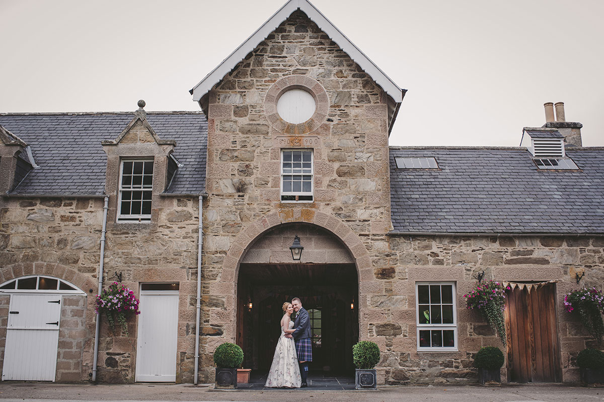 bride and groom at Aswanley Zoe Rae Photography