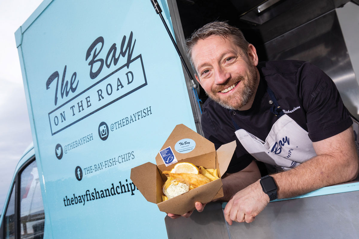 The Bay on the Road fish and chip truck