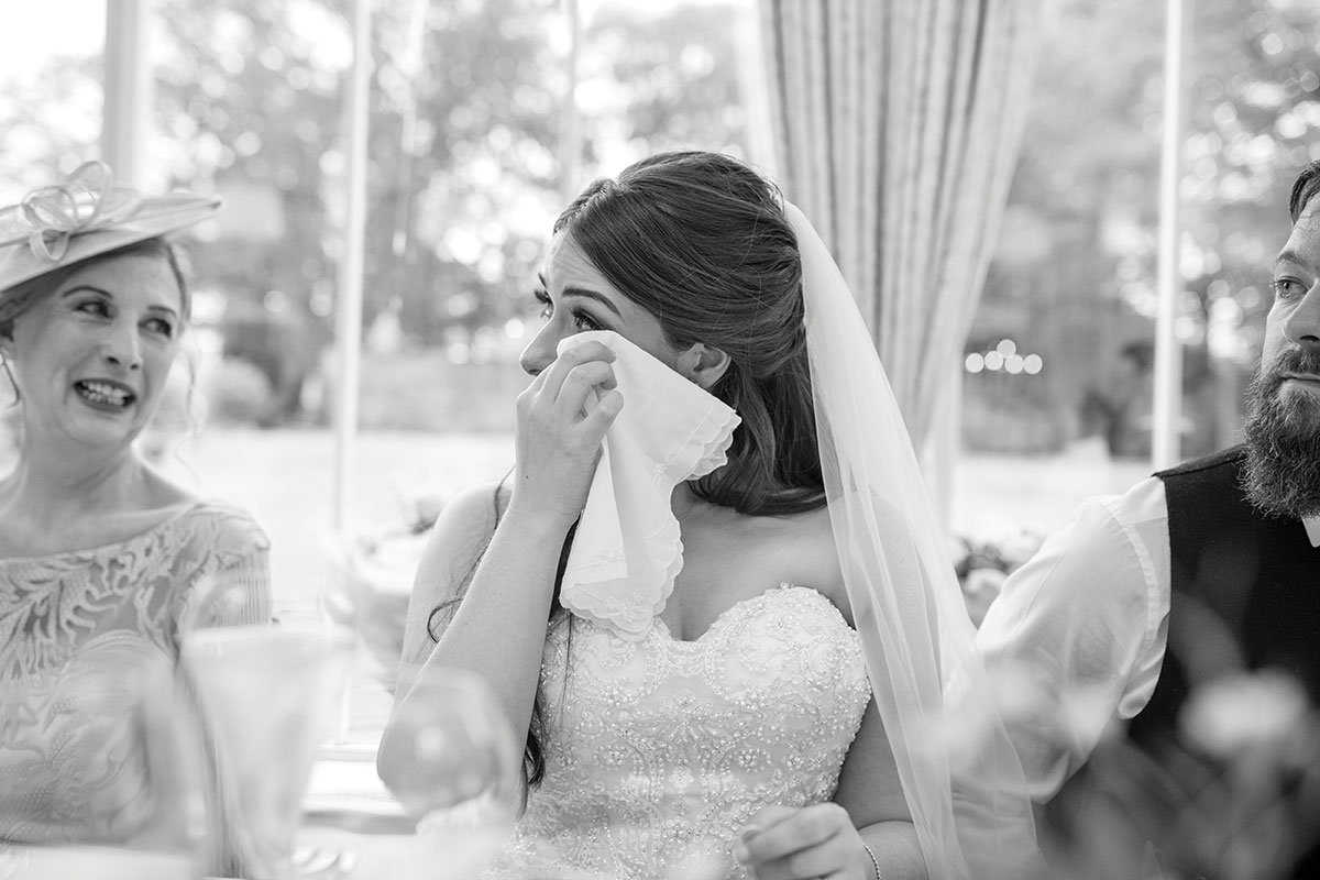 CameraShy Photography bride wiping tears