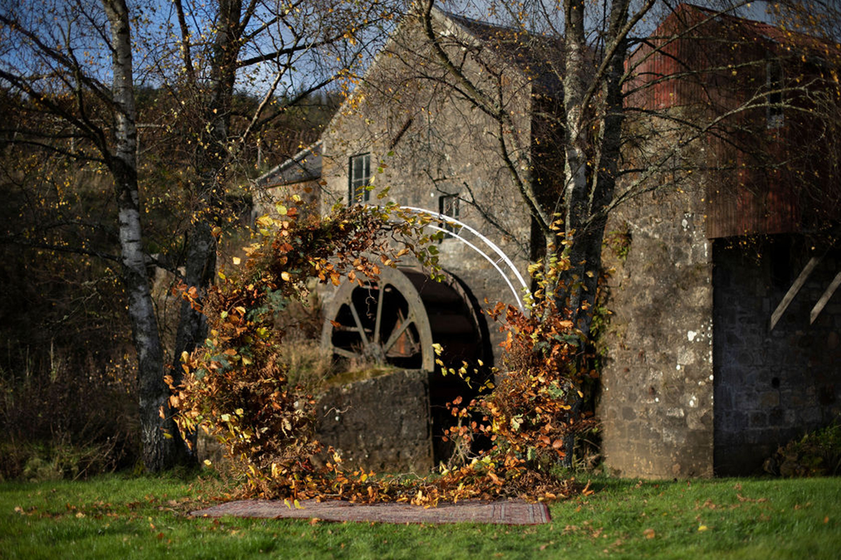 autumnal arch at Folkerton Mill