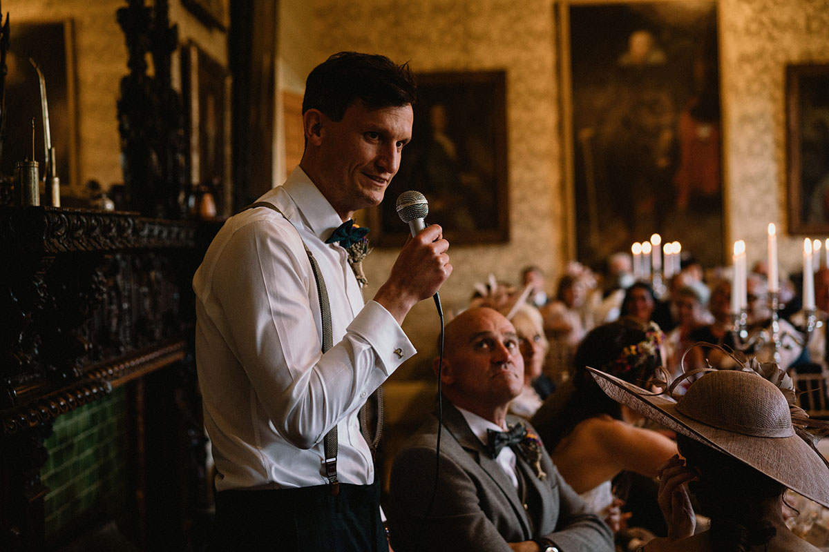 best man wedding speech watched by guests