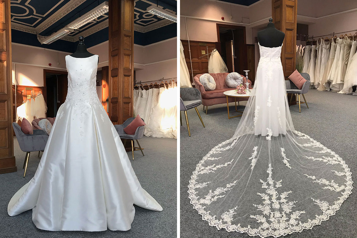 Two wedding dresses from Bridal Reloved Glasgow