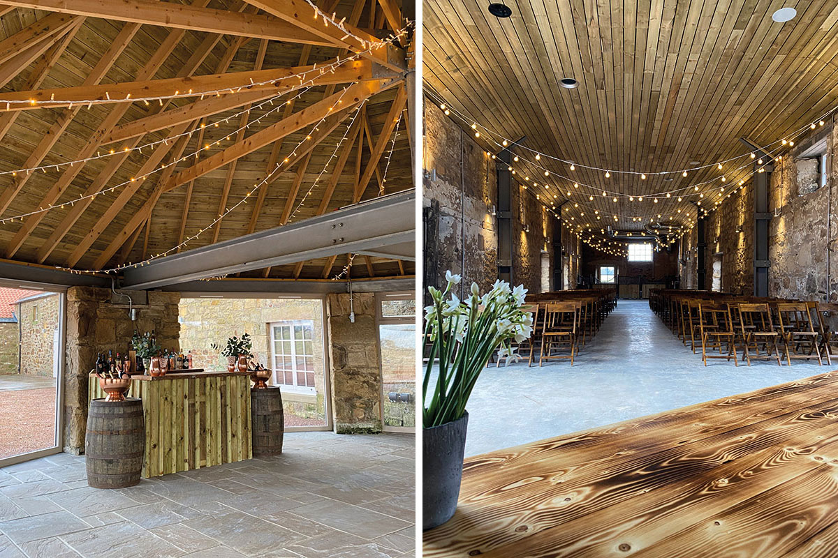 Wedding areas at Falside Mill in Fife