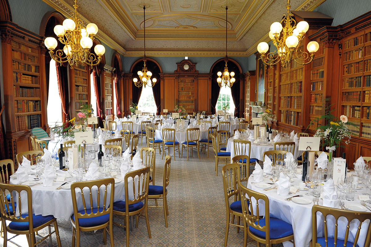 Haddo House wedding dinner table set up owned by the National Trust for Scotland