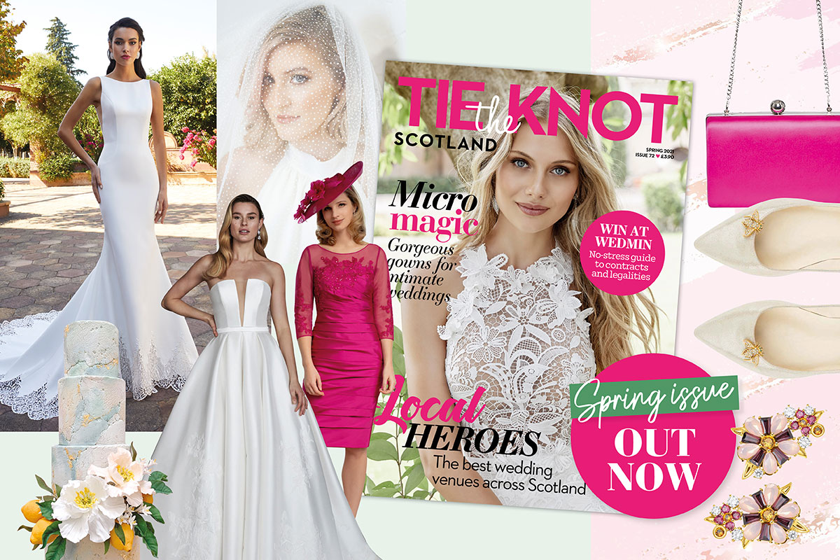 Tie the Knot Scotland Spring 2021 issue montage