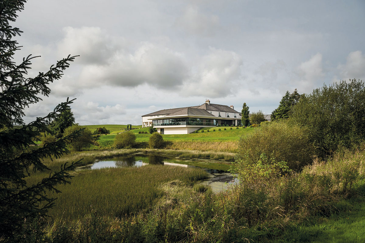 Exterior of Lochside House Hotel, Lodges and Spa in Ayrshire
