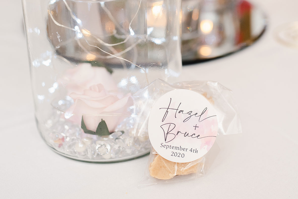 personalised wedding tablet favour bag