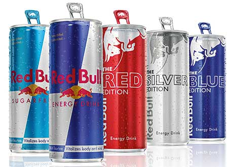 Cranberry, lime and blueberry flavours, designed for consumers who dislike the taste of existing energy drinks.