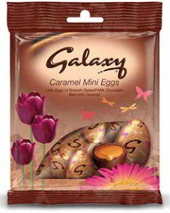 Mars Galaxy caramel mini eggs –part of the 2013 Easter range.