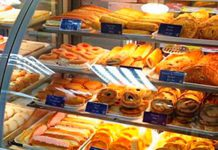 Fresh cakes in the Scotmid store in Carrick Knowe in the west of Edinburgh. Scotmid is working with a selection of local bakery suppliers to put more fresh cakes into stores across Scotland.