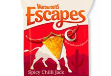 Warburtons' baked pitta chips have been rebranded as Escapes in adventure-themed packaging.