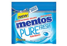 MENTOS has repackaged its Pure Fresh chewing gum in a resealable pack.
