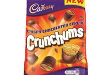"CADBURY has a new line in its bagged chocolate range. Launched this month. Cadbury Crunchums is, manufacturer Mondelez International says, ""a one-of-a-kind, wonderfully moreish snack of crispy cereal bites, coated in Cadbury chocolate""."
