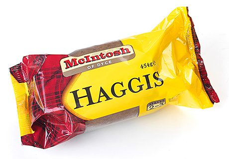 Traditional Scottish produce, using Scottish ingredients, but prepared and presented for modern consumers. Strathmore Foods' McIntosh of Dyce range includes chilled meat products and ready meals. Among its newest products are McIntosh Haggis and McIntosh black pudding.