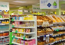 Pictured above, Scotmid's new value-led store at Prestonpans provides more economy offers as well as an increased range of local products. And, pictured right, the new Stuart's in-store butcher counter at the South Queensferry Scotmid.