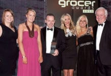 Terry and the team from Nisa Extra, Linwood receive the Champion of Beer Award at the Scottish Grocer Awards 2103.