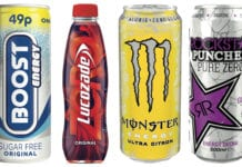 Monster Ultra Citron, Boost Sugar Free and Lucozade Zero Original are among the sugar-free variants currently being championed by energy drink firms.