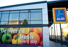 Aldi storefront in Manchester