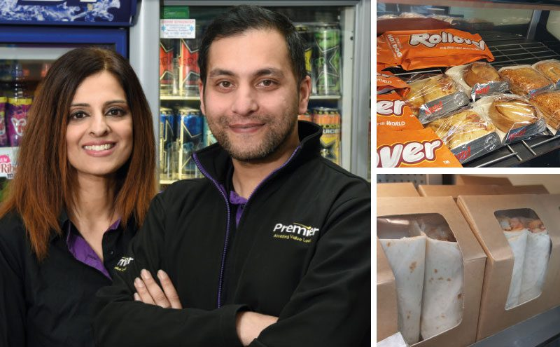 Abada and Asif Akhtar's new food-to-go unit provides customers with coffee from Papa Chinos, hot food from Country Choice and sandwiches from Fife Creamery.