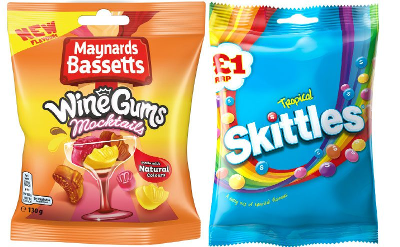 Wine gums and skittles
