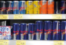 Red Bull in fridge
