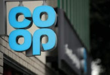 Co-op signage in blue