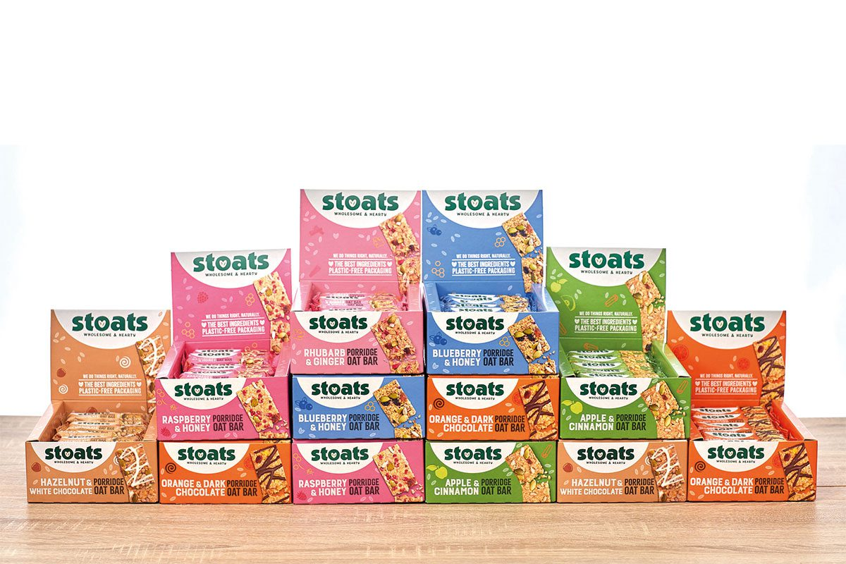 Stoats porridge new recycled packaging