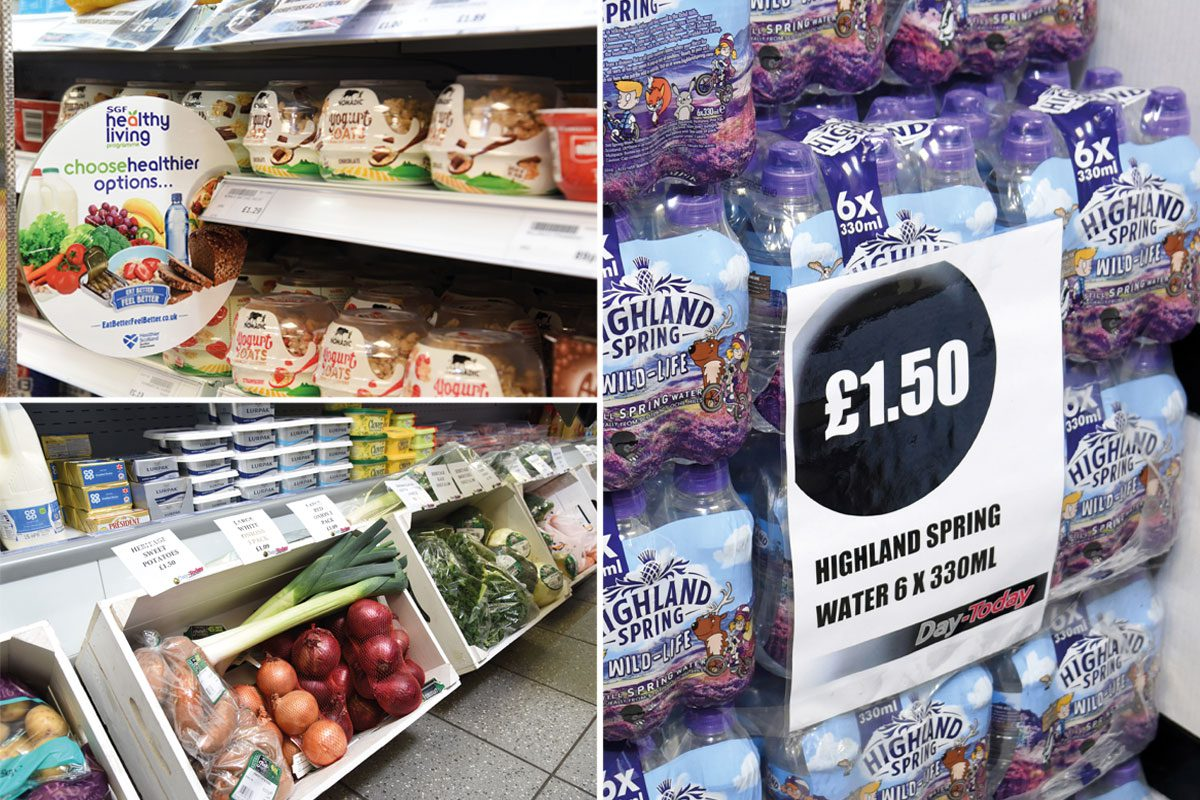 Healthy options at Doonfoot Day-Today exist across categories and they are well signposted by POS in store.