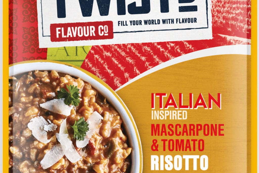 Twistd Italian inspired mascarponi and tomato risotto