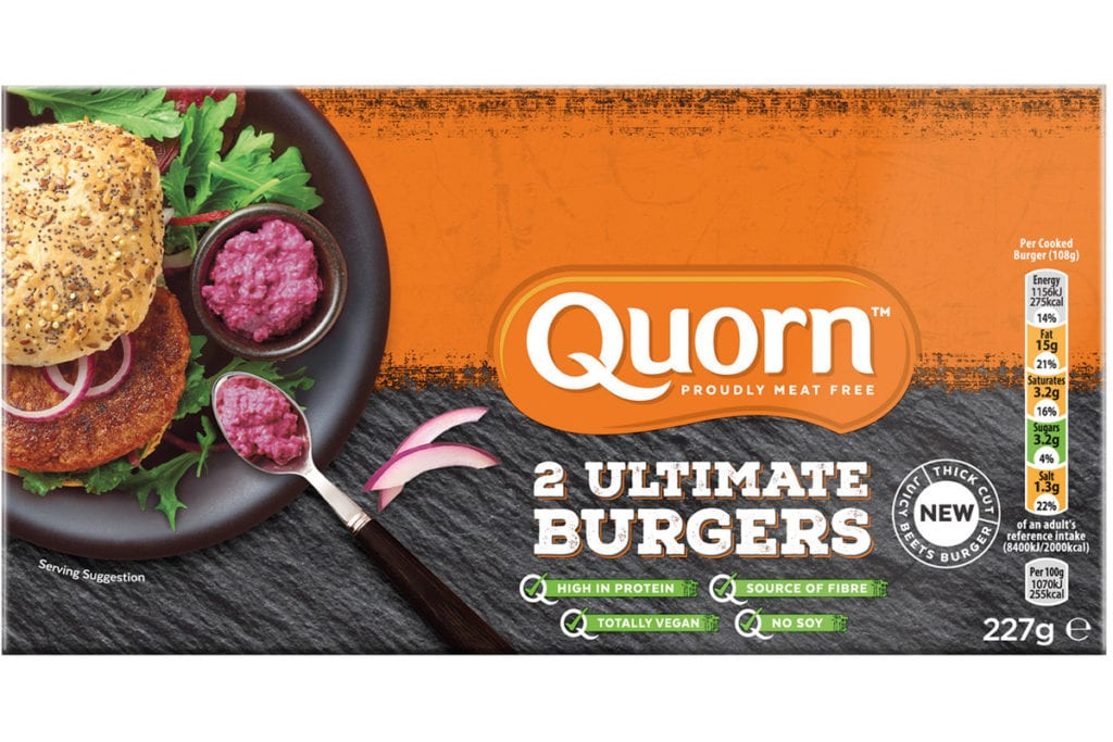 Quorn ultimate burgers
