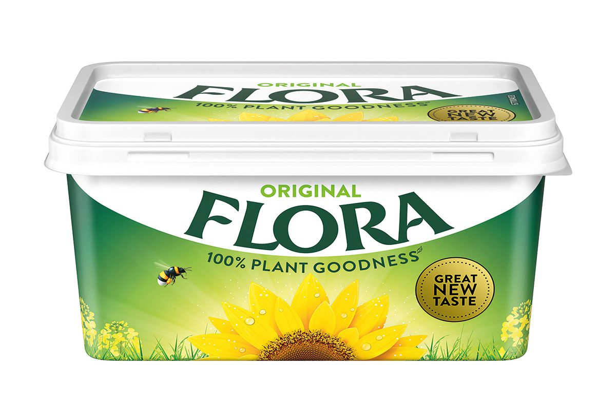 Flora Original 500g tub is 100% vegan
