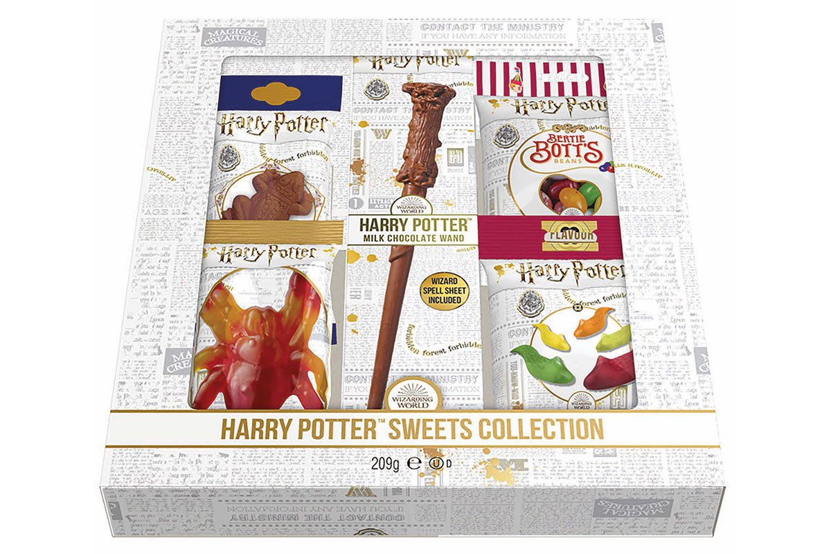 The new products include a 42g chocolate replica of Lord Voldemort's wand