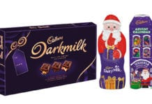 Cadbury Dark Milk and Dairy Milk festive lines from Modelez