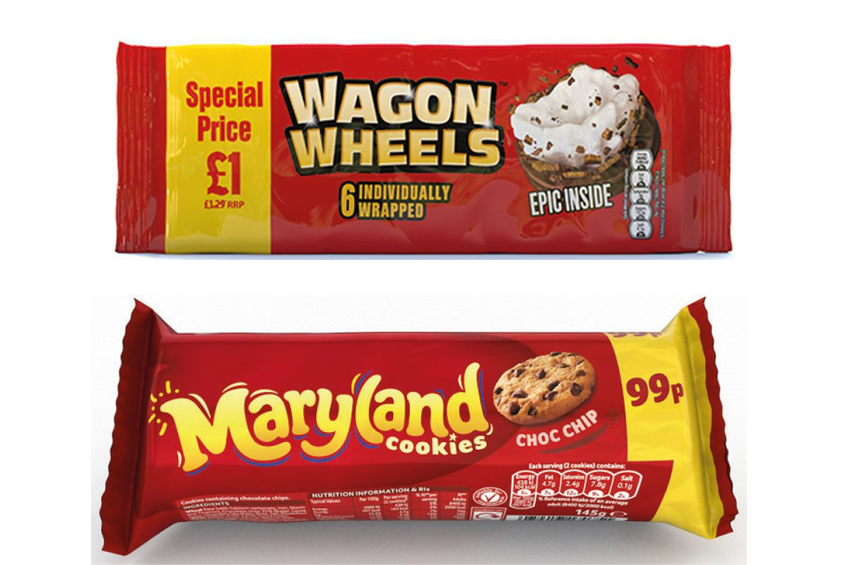 Burtons Biscuit Company Wagon Wheels and Maryland Cookies