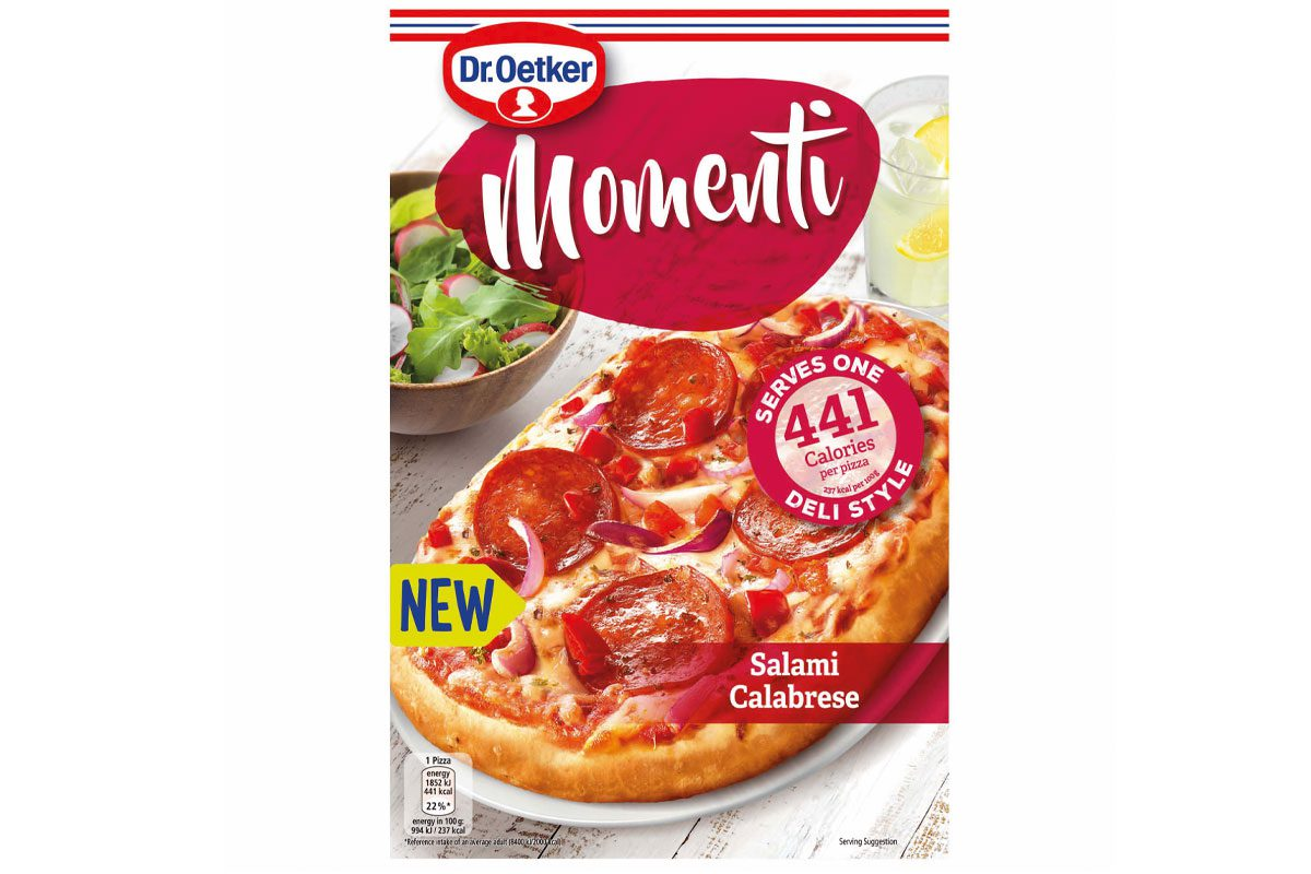 Dr Oetker Momenti Salami Calabrese pizza