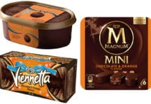 Chocolate orange ice cream range