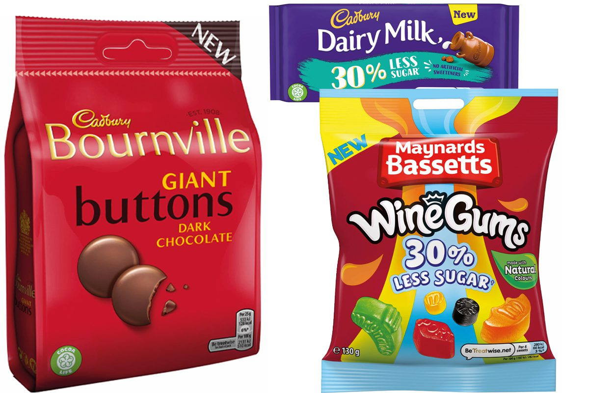 Cadbury and Maynards products
