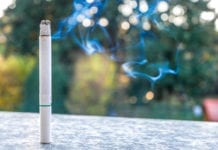 menthol cigarette burning