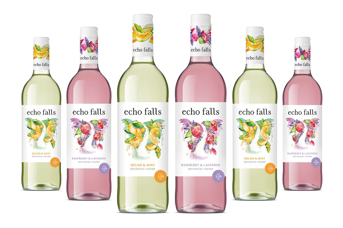 Echo Falls Melon and Mint, and Raspberry and Lavendar