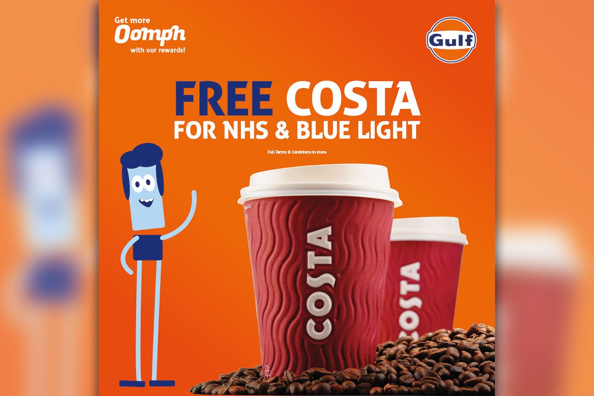 Free Costa for NHS and Blue Light staff