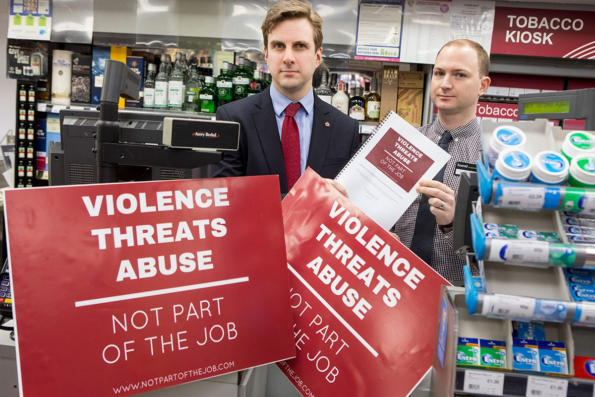 Daniel johnson MSP's bill would make assaulting a shopworker an offence.