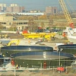 KIRK Environmental designed, supplied and installed – then relocated and dismantled – 14 glass-fused-so-steel tanks to MVB-JV as part of the £600m Lee Tunnel project.
