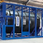 Purpose-built steel frames accommodate thermal expansion of the tank.
