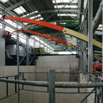 Specialist composite steel panels will provide airtight fire separation between different processing areas.