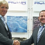 Azzuro CEO/President Bonno Koers (left) with ACWA Group Managing Director Gary Jackson
